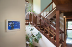 Home with smart thermostat