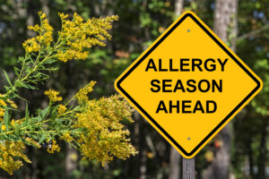 Allergy season sign