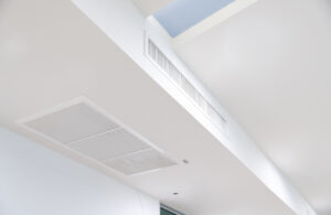 Image shows air return vent where air is filtered