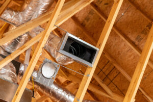 Image shows new ductwork installed to add equity to a home